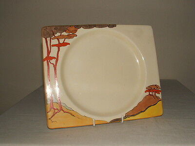 Clarice Cliff Art Deco Bizarre Coral Firs Biarritz Dinner Plate Truly Stunning
