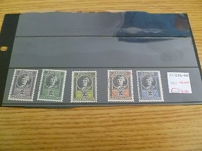 Luxembourg SG 256-60 Catalogue value £40 Ref RU5