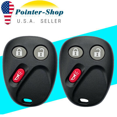 2 Key Fob Replacement For LHJ011 CHEVY Keyless Entry Remote Clicker Transmitter