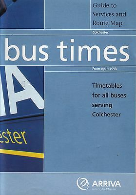 Bus Timetable - Arriva Colchester Eastern National Counties April 1998 Unmarked