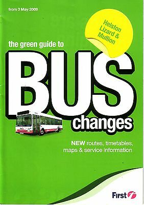 Bus Timetable - First & Truronian Cornwall Helston Lizard - May 2009 - Unmarked