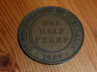 Australia  - One Half Penny Coin - 1935 - George V - Great Coin