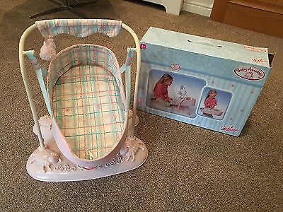 Zapf Creation Baby Annabell Swinging Carrier Cot/Crib