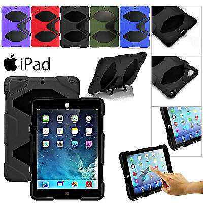Shockproof Stand Military Survivor Heavy Duty Hard Case Cover For iPad/AIR/MINI