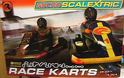 "Micro Scalextric 1:64 G1120 Race Karts Komplettbahn ""Neu""(AND)"