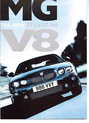 Rare Rover Mg Zt  And  Zt-T 260 V8  Sales Brochure 2003