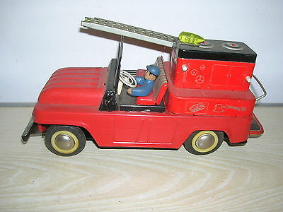 Red China Tintoy - Fire Car WRECKER TRUCK Typ 553 MF 972 - ca. 70er Jahre RAR