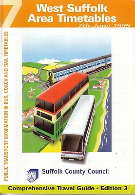 Bus Timetable - West Suffolk First Eastern Counties Stagecoach Jun 1999 Unmarked