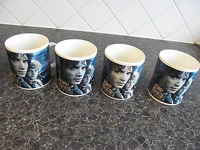 4 x new Lord of the Rings mugs