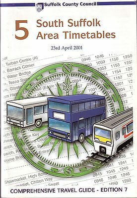 Bus Timetable - South Suffolk First Eastern Counties Arriva - Apr 2001 Unmarked
