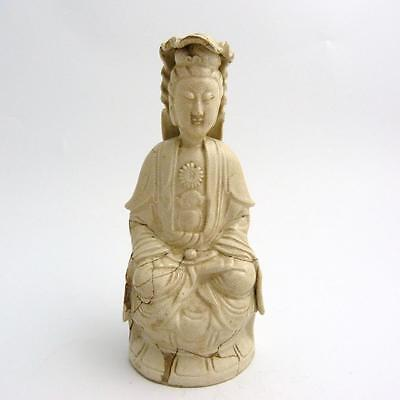 Chinese Crackle Glazed Porcelain Figure Of A Guanyin, 17Th Century