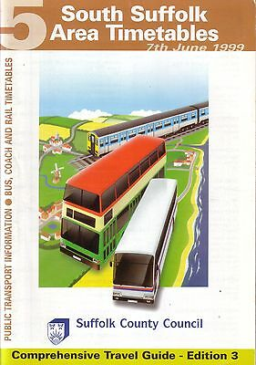 Bus Timetable - South Suffolk First Eastern Counties Ipswich Jun 1999 Unmarked