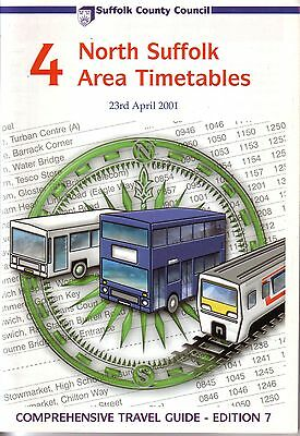 Bus Timetable - North Suffolk First Eastern Counties Anglian Apr 2001 Unmarked
