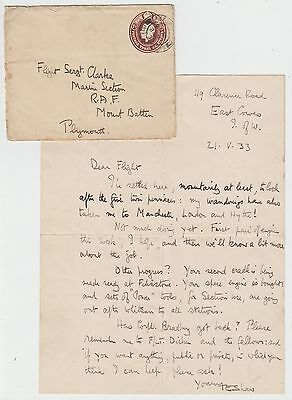 T.E.LAWRENCE. Autograph Letter Signed, R.A.F. engine work, with envelope, 1933