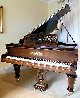 R Lipp & Sohn Boudoir Grand Piano 1898 Antique Recently Refurbished