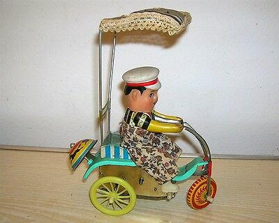 Red China Tintoy - Tricycle Boy with Bell Typ 607 MS 710 - ca. 70er Jahre