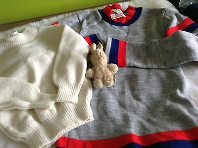 VINTAGE AUTHENTIC CLOTHING CHILDRENS VARIOUS JUMPERS   UNUSED  70s