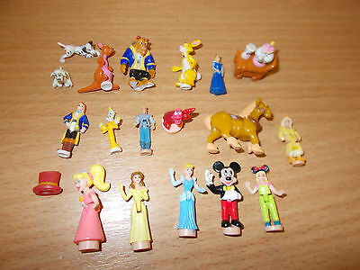 Polly Pocket Bluebird BBT Disney mini figures spares job lot Beauty & the Beast