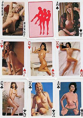 """PACK of RARE VINTAGE """"Lovely Ladies - Nude Sweethearts"""" Playing Cards"""