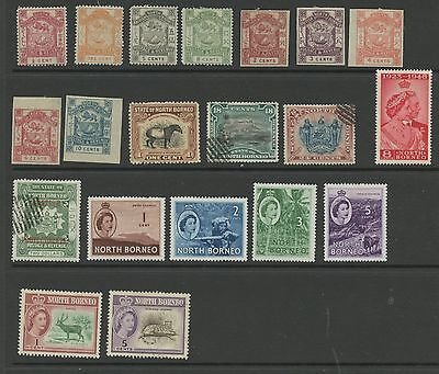 NORTH BORENO--Lot of 20 different stamps