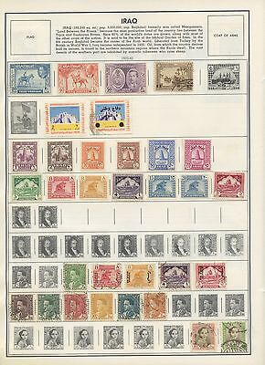 IRAQ--Accumulation of 188 stamps Mounted on Pages