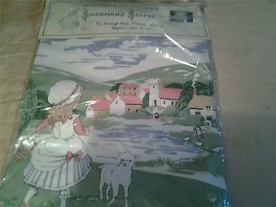 New quilted cushion cover kit country scene Mary  had a Little lamb