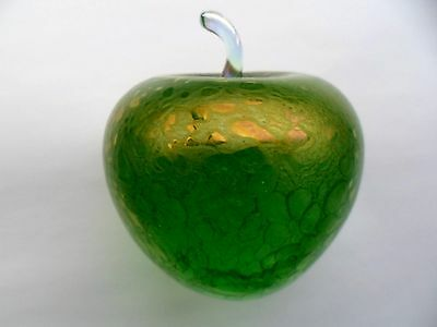 Super & Beautiful J. Ditchfield Glasform Large Green Apple . Perfect Cond.