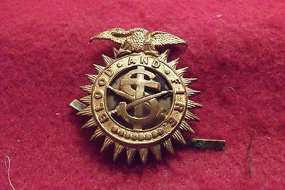WW II/Pre WW II Brass Cap Badge To The Salvation Army (Blood And Fire)