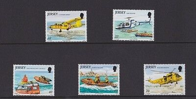Jersey, 18th Jan, 2005, Rescue craft, mint set of 5