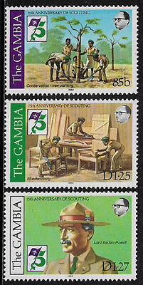 Gambia #440-2 Mint Never Hinged Set - Scouting Year (b)