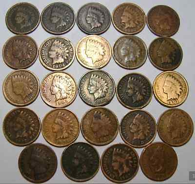 (24) Indian head pennies