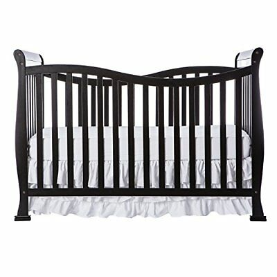 Dream On Me Violet 7 in 1 Convertible Life Style Crib, Black New