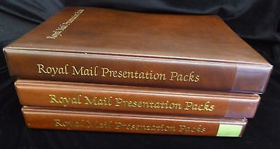 Royal Mail 3 x Presentation Pack Albums - with leaves - 2nd hand