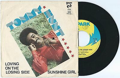 "7"" TOMMY HUNT Loving on the losing side (Spark 76 ITALY) funk soul unique cvr EX"
