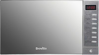 NEW Breville BRSMW2016 Solo Microwave 20L 800W 6 Power Levels - Silver