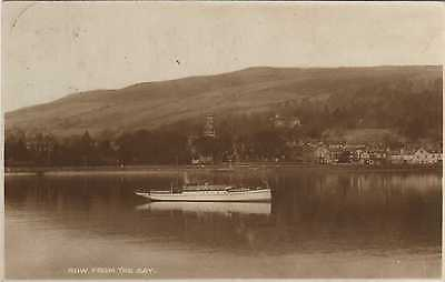 Row.From the Bay-1925 Used RPPC-(Publisher:Winton Stationers,Row,Gareloch)-VGC !