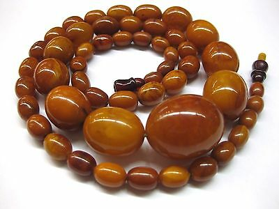 37 g OLIVE Nature real  Amber Butterscotch Necklace 老琥珀  Natur Bernsteinkette