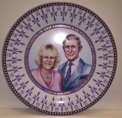 Collectors Plate TO COMMEMORATE THE WEDDING OF CHARLES AND CAMILLA