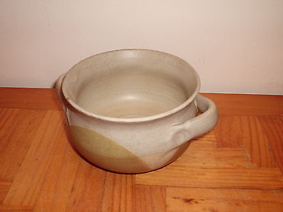 Rustic Potters Wheel Decorative Green & Grey Pottery Soup Bowl