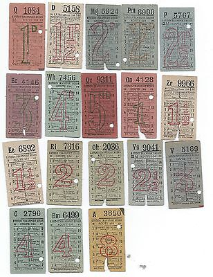 Bus Tickets 18 London Transport Buses Route 194 as per scans