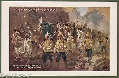 1st Bat Kings Own Borderers. Afghanistan, Kyber Pass 1878. Art Card by J. McNeil