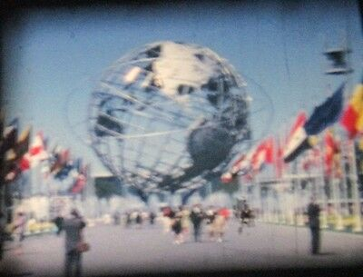 SUPER 8mm 1964 NEW YORK WORLDS FAIR Color Film Home Movie GREAT FOOTAGE 25 min