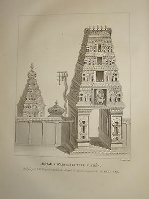 William DANIELL ENGRAVING PAGODA TEMPLE ARCHITECTURE  INDIA HINDOUSTAN 1820 b