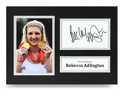 Collectables Autographs Becky Adlington Hand Signed Autograph 16x12 Photo Display Swimming 2012 Coa