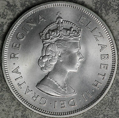 GEM+ Uncirculated 1959 Bermuda 350th Anniversary One Crown Silver Coin!!