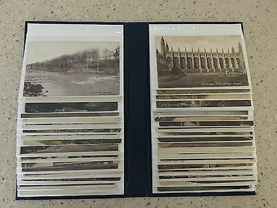 Album of 100 UK vintage topographic postcards, all postally used early 1920s