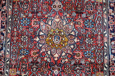 c1920s ANTIQUE CLASSIC VILLAGE WOVEN PRSIAN BIJAR RUG 2x2.9 HIGH KPSI_KORK WOOL