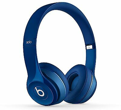 Beats by Dr. Dre Solo2 Wired Foldable On-Ear Headphones [Blue] C+