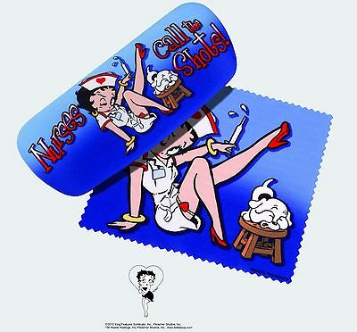 Betty Boop Eyeglass Case with Cleaning Cloth - Nurse Betty