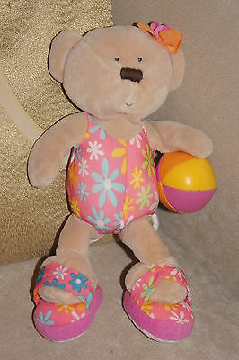 "**MINT** ""Wailea"" TY Beanie Plush Toy Beach Teddy Bear 2006 Retired"